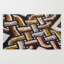 Roman Geometric Squares Tile Mosaic Pattern Rug