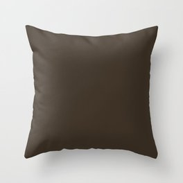 Cola - solid color Throw Pillow