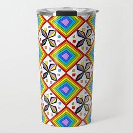 symetric patterns 75-mandala,geometric,rosace,harmony,star,symmetry Travel Mug