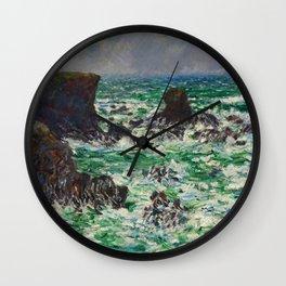 """Claude Monet """"Port Coton: Le Lion"""" Wall Clock"""