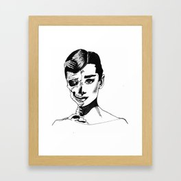Audrey is not dead Framed Art Print