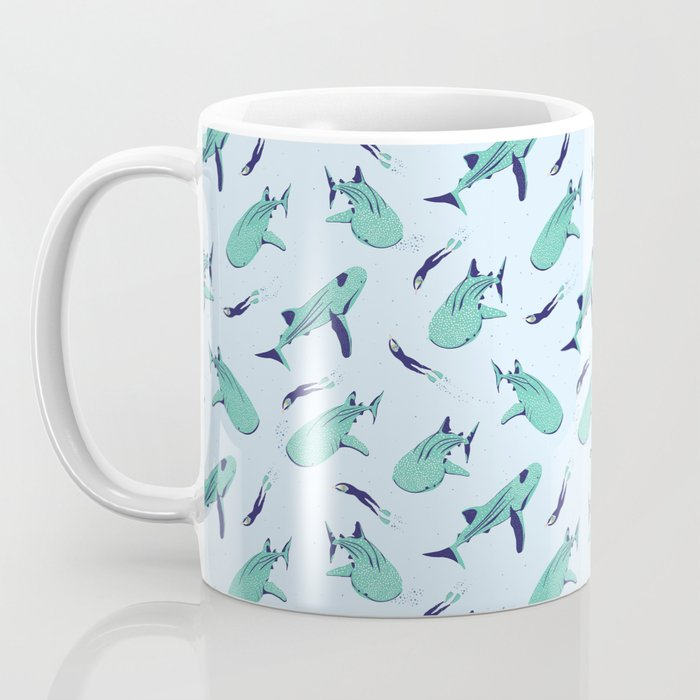 Swimming with Whale Sharks Coffee Mug