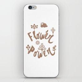 Funny design Flower Power iPhone Skin