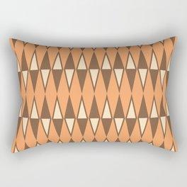 Mid Century Modern Diamond Pattern Brown Orange 231 Rectangular Pillow