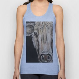 Cozy Cow in the Night Unisex Tank Top
