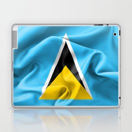 Saint Lucia Flag Laptop & iPad Skin