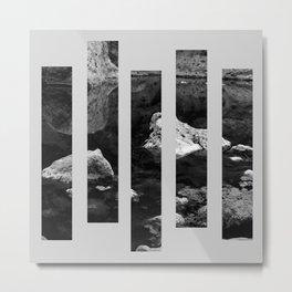 Stone Through Blocks Metal Print