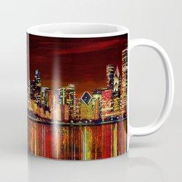 Chicago Night Skyline Coffee Mug