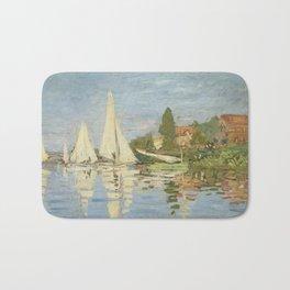 Regattas at Argenteuil by Claude Monet Bath Mat