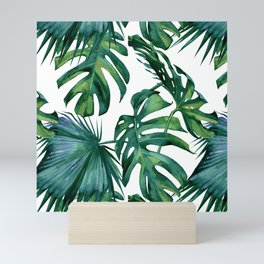 Classic Palm Leaves Tropical Jungle Green Mini Art Print