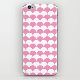 Light Pink Clamshell Pattern iPhone Skin