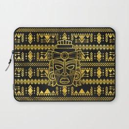 Gold  Aztec Inca Mayan Mask Laptop Sleeve