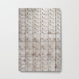 Chests with numbers Metal Print