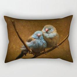 Male and Female Cordon Bleu Canaries Rectangular Pillow