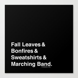 Fall Leaves & Marching Band Canvas Print