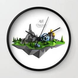 CheckiO island Wall Clock