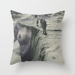 Tectonic Shift - collage Throw Pillow