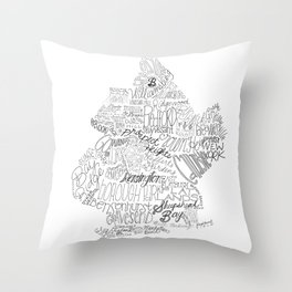 Brooklyn Illustration Throw Pillow