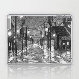 Raining on industrial street Laptop & iPad Skin