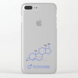Sex hormones molecular formula. Testosterone Hormones symbol. Clear iPhone Case