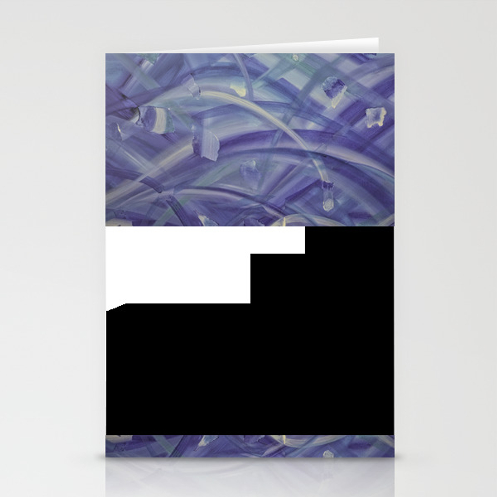Blue Coloured Abstract Acrylic Painting Stationery Cards by Whiteway CRD8689750