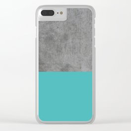 Concrete x Blue Clear iPhone Case