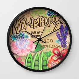 Newberry's Seed Catalogue Wall Clock