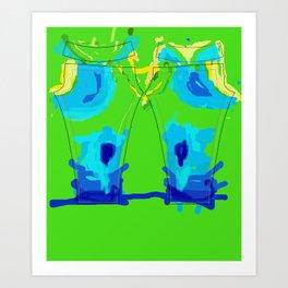 Thermal Imaging Pants Art Print