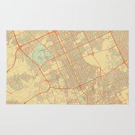 Riyadh Map Retro Rug