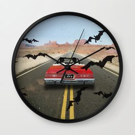 Fear and loathing las Vegas travel movie art Wall Clock