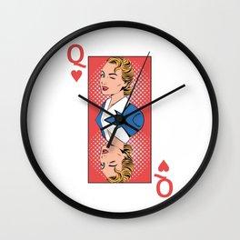 Queen Pop Art Wall Clock