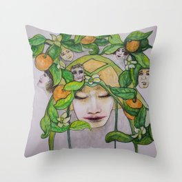 In the Citrus Family Throw Pillow