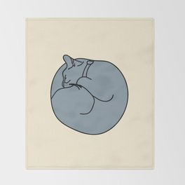 Sleeping Cat 2 Throw Blanket