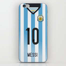 World Cup 2014 - Argentina Messi Shirt Style iPhone Skin