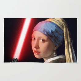 The Girl with the Lightsaber Rug