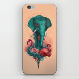 Elephant on the mat iPhone Skin
