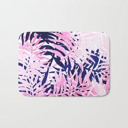 Palm pink & blue Bath Mat