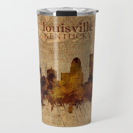 louisville skyline vintage 4 Travel Mug