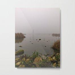 stone, water & fog Metal Print
