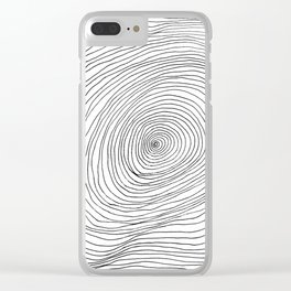 Spiral Rings Clear iPhone Case