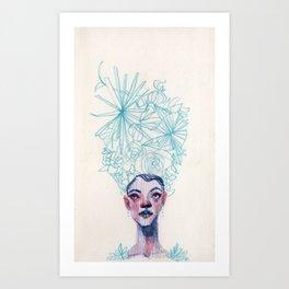 Garden Hat Art Print