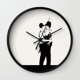 Kissing Coppers Wall Clock