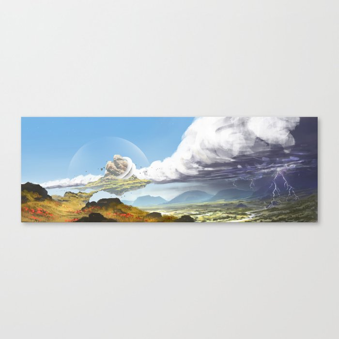 Floating Island Canvas Print