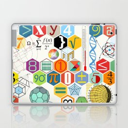 Math in color (white Background) Laptop & iPad Skin