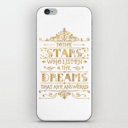 To the Stars - White iPhone Skin