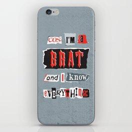 Brat Attack iPhone Skin