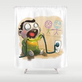 Babies like to bite stuff Shower Curtain
