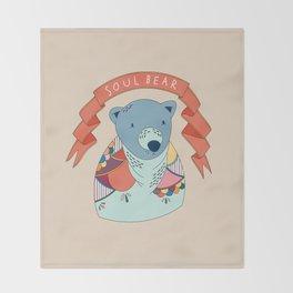 Soul Bear Throw Blanket