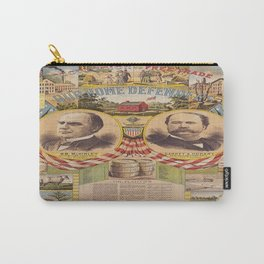 Mc. Kinley and Hobart Presidential Elections Vintage Poster 1896 Carry-All Pouch