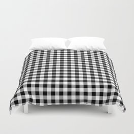 Classic Black and White Western Cowboy Buffalo Check Duvet Cover